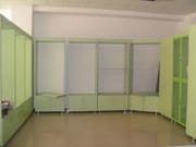 Торговое оборудование для магазинов б.у : витрины,  стеллажи , полочки, з