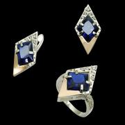 Серьги,  кольца,  браслеты из серебра оптом
