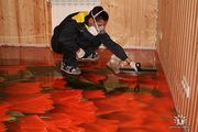 3D наливные декоративные покрытия полы