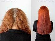 профессиональное выпрямление волнистых волос с эфектом шелка, ламиниров